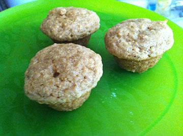Whole Wheat Banana Flax Muffins